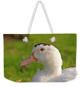 A White Duck, Side View Weekender Tote Bag