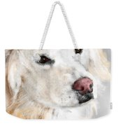 A White Golden Retriever Weekender Tote Bag
