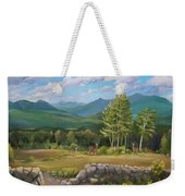 A  White Mountain View Weekender Tote Bag