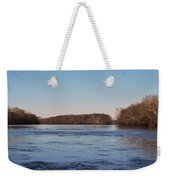 A Windswept River In March Weekender Tote Bag