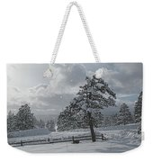 A Winter Storm In Pagosa Weekender Tote Bag by Jason Coward