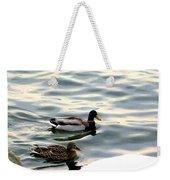 A Winter Swim Weekender Tote Bag