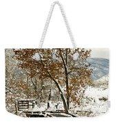 A Winter's Boardwalk Weekender Tote Bag
