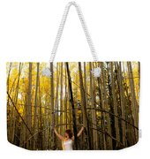 A Woman In The Aspen Weekender Tote Bag