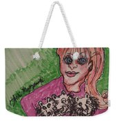 A Women And Her Puppies Weekender Tote Bag
