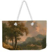 A Wooded Hilly Landscape Weekender Tote Bag