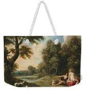 A Wooded Landscape With Venus Adonis And Cupid Weekender Tote Bag