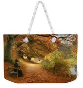 A Wooded Path In Autumn Weekender Tote Bag