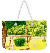 A Wooden Swing Under The Tree Weekender Tote Bag
