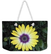 A Yellow Daisy Exhibit Weekender Tote Bag