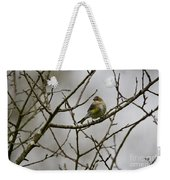 A Yellow-rumped Warbler In The Evening Weekender Tote Bag