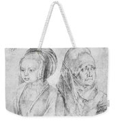 A Young Girl Of Cologne And Dbcrer Wife 1520 Weekender Tote Bag