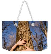 A Young Girl Wraps Her Arms Weekender Tote Bag