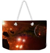 A Young Ringed Planet With Glowing Lava Weekender Tote Bag