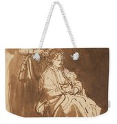 A Young Woman Having Her Hair Braided Weekender Tote Bag