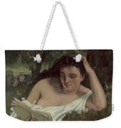 A Young Woman Reading Weekender Tote Bag