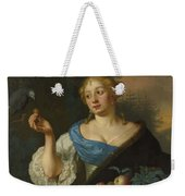 A Young Woman With A Parrot, Ary De Vois, 1660 - 1680 Weekender Tote Bag