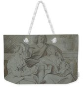A Youth And Two Girls Singing , Jacob Jordaens Weekender Tote Bag