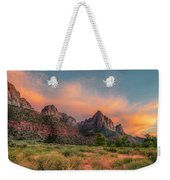 A Zion Sunset Weekender Tote Bag