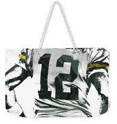 Aaron Rodgers Green Bay Packers Pixel Art 6 Weekender Tote Bag