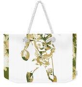 Aaron Rodgers Green Bay Packers Water Color Art 1 Weekender Tote Bag