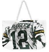 Aaron Rodgers Green Bay Packers Pixel Art 5 Weekender Tote Bag