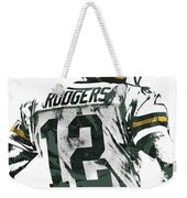 Aaron Rodgers Green Bay Packers Pixel Art 5 Weekender Tote Bag