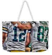 Aaron Rodgers Jordy Nelson Green Bay Packers Art Weekender Tote Bag