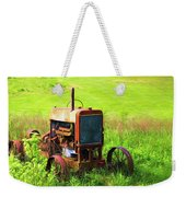 Abandoned Farm Tractor Weekender Tote Bag