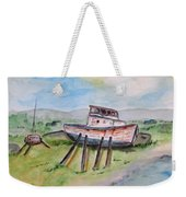 Abandoned Fishing Boat Weekender Tote Bag by Clyde J Kell