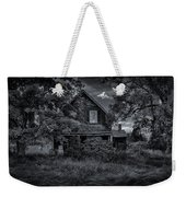 Abandoned Home In Lubec Maine Bw Version Weekender Tote Bag