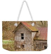Abandoned House With Colorful Roof Weekender Tote Bag