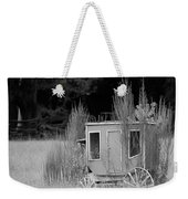 Abandoned In The Field Black And White Weekender Tote Bag