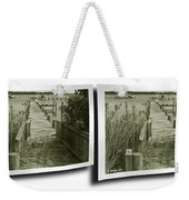 Abandoned Pier - Gently Cross Your Eyes And Focus On The Middle Image Weekender Tote Bag