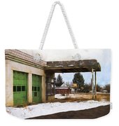Abandoned Service Station Painterly Impressions Weekender Tote Bag