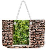 Abandoned Stone Wall With Window Weekender Tote Bag