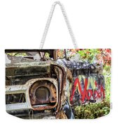 Abandoned Truck With Spray Paint Weekender Tote Bag