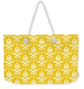 Abby Damask In White Pattern 05-p0113 Weekender Tote Bag