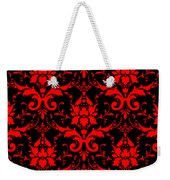 Abby Damask With A Black Background 02-p0113 Weekender Tote Bag