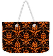 Abby Damask With A Black Background 03-p0113 Weekender Tote Bag