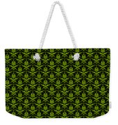 Abby Damask With A Black Background 09-p0113 Weekender Tote Bag