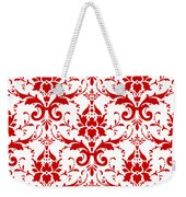 Abby Damask With A White Background 02-p0113 Weekender Tote Bag