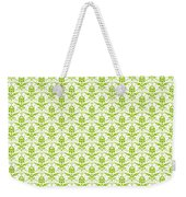 Abby Damask With A White Background 09-p0113 Weekender Tote Bag