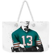 Abe Lincoln In A Dan Marino Miami Dolphins Jersey Weekender Tote Bag