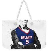 Abe Lincoln In A Josh Smith Atlanta Hawks Jersey Weekender Tote Bag