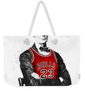 Abe Lincoln In A Michael Jordan Chicago Bulls Jersey Weekender Tote Bag