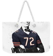 Abe Lincoln In A William Perry Chicago Bears Jersey Weekender Tote Bag
