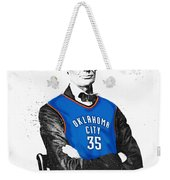 Abe Lincoln In An Kevin Durant Okc Thunder Jersey Weekender Tote Bag