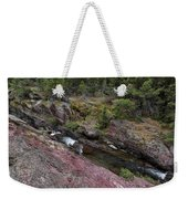 Above Redrock Falls Weekender Tote Bag