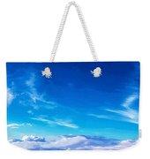 Above The Clouds Sky Is Always Blue Weekender Tote Bag